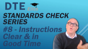 driving instructor standards check instructions clear and in good time