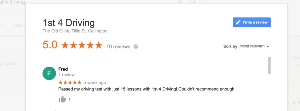 driving school review