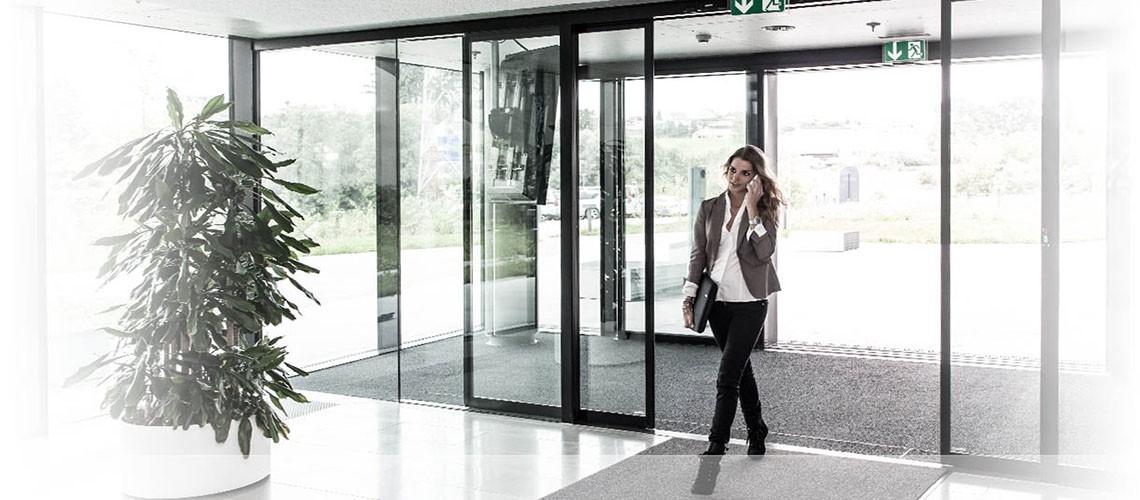 automatic door opens