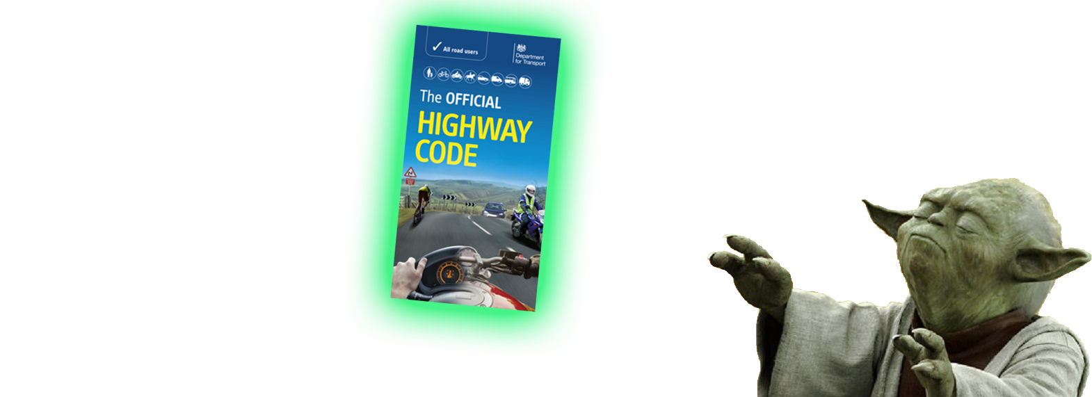 yoda with highway code