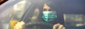 wearing a face covering during driving tests